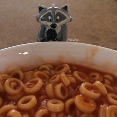 Uh-Oh, SpaghettiO's (tiramisu_addict) Tags: meeko raccoon toys disney spaghettios kawaii instagram minifigs