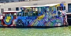 barge, Lyon, colors, (David McSpadden) Tags: barge lyon colors france rivercruise