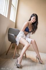 DSC_9131 (Robin Huang 35) Tags: 林珈伊 femi 01 辦公室 內衣 underwear 旅拍 人像 portrait lady girl nikon d850 bra 胸罩