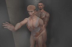Steamy (EnviouSLAY) Tags: naked shower risque blond tanktop tank top nude showerscene scene secondlifefashion secondlifephotography modulus belleza bento lelutka cubura collab88 c88 mancave man cave monthlyevent monthlyfashion monthlyfair monthlymen newreleases new releases mensmonthly mensevent mensfashion mensfair mens event monthly fair fashion pale male gay blogger secondlife second life photography