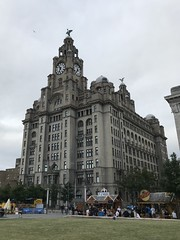Royal Liver Building - Facing The Mersey - Pier Head, Liverpool, England - August 2018 (firehouse.ie) Tags: majestic historic heritage buildings building threegraces listedbuildings architecture england merseyside liverpool pierhead royalliverbuilding royalliver