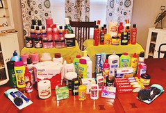 Personal care items donated to Oasis. June 2018