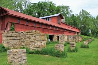 Frank Lloyd Wright's red Wisconsin barn