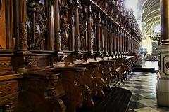 Lima-Perú, 2018, Basílica Catedral Metropolitana de Lima y Primada del Perú (Siabala, Luis) Tags: sillería nogal nicaragua catedral altarmayor