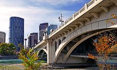 Centre Street Bridge,Calgary. (Bernard Spragg) Tags: centrestreetbridge calgary bowriver bridges