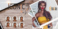 ERAKAH_BANNER (Neveah Niu /The ICONIC Owner) Tags: iconic iconichair tlc the liaison collaborative neveahniu mesh hairsl curls braids multistyler yellow wood avatar secondlife hacienda fashion 3d photoshop zbrush blender