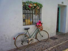 Altea. Pequeños detalles (Teresa Esteban) Tags: alicante altea bicicleta flores ventana calle pueblo pared