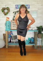 Slip (Trixy Deans) Tags: crossdresser cd cute crossdressing crossdress classy boots kneeboots xdresser sexy sexyheels sexytransvestite sexylegs sexyblonde tgirl tv transgendered transvestite transsexual trixydeans tgirls t