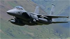 "Low level F-15e 492nd fighter squadron (DaveChapman ""If it flies,I shoot it"") Tags: flying fast f15e wales eagle bolars 48tfw 492d lowlevel lfa7 loop lowfly lakenheath raf roundabout military militaryaircraft machloop mcdonnelldouglas"