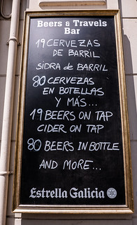 Decent Watering Holes - Sign ( Beers & Travel Bar - Valencia) (Panasonic  LX100 Lumix Compact) (1 of 1)