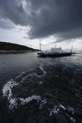 Traversier (Patrice StG) Tags: ferry traversier saguenay rivière river fjord pentax pentaxart kp nuage cloud dark sombre water eau
