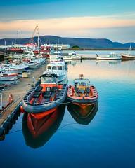 At the dock (BlinkOfALens) Tags: reykjavík capitalregion iceland is boat harbor sunset dock