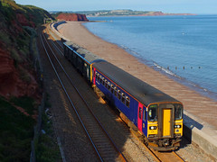 153329 & 150265 Dawlish (1) (Marky7890) Tags: 153329 class153 supersprinter gwr 150265 class150 sprinter 2t23 dawlish railway devon rivieraline train