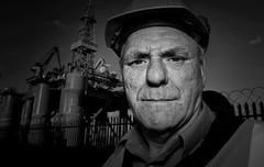rig worker (teedee.) Tags: harland wolff shipyard oil rig worker belfast bw docks