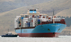 LAUST MAERSK. (Bernard Spragg) Tags: ships vessels boats tug harbour port lumix marine containership