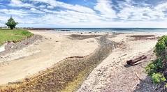 Cooee to the sea (taszee63) Tags: tasmania panorama cooee hdr 3xp bassstrait beach sand creek ck