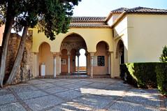 Málaga, een patio in de Alcazaba, Spanje Andalusië 2018 (wally nelemans) Tags: málaga alcazaba tuin garden patio spanje spain españa andalusië andalucia andalusia 2018
