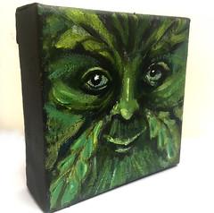 Green Man I - 3D view (Ronald Hackston) Tags: painting drawing art trees vegetation green man pagan god greenman thegreenman folklore folk folkhorror