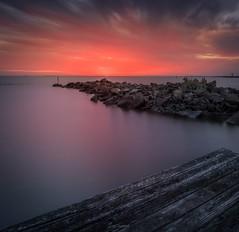 A red sunset (Gary Eastwood) Tags: longexposure nisifilters nikon nikond750 williamstown seascape sea sunset clouds cloudsstormssunsetssunrises