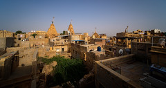 Above the Golden City rooftops (ajecaldwell11) Tags: buildings castle fort fujifilm golden jaisalmer light roofs rooftops sky temple xe3