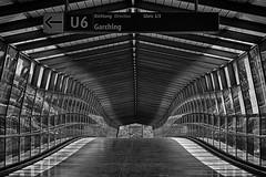 U6 (Leipzig_trifft_Wien) Tags: münchen bayern deutschland de pov perspective bridge tunnel structure empty light shadow metro station architecture modern contemporaray city urban