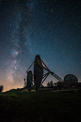 Contact (Esmeralda Holman) Tags: night stars milkyway starynight satelite disk abandoned urbex