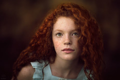 Lily ({jessica drossin}) Tags: jessicadrossin portrait redhair redhead naturallight wwwjessicadrossincom freckles curls child teen pretty beautiful close up