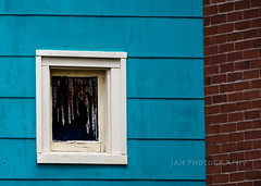 Two Walls And A Window (jah32) Tags: blue cmwdblue windows window inthewindow wall walls brick bricks lines square fredericton newbrunswick canada city cities