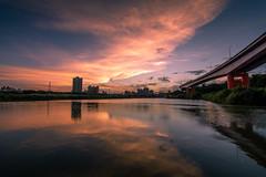 晚霞映漫天 - Sunset glows (basaza) Tags: 永福橋 canon 760d 新店溪