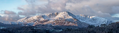 The Langdales (Swirly_Magnolia) Tags: sun rise mountain langdales lake district uk english england lakes meun crag snow december snowfall ice morning dawn beautiful forest wonderful light sky cloudy clouds tall high panorama nikon pano swirly magnolia huge