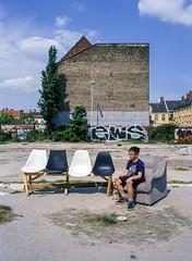 Wojtek. Berlin, Germany. (wojszyca) Tags: fuji gsw680iii 6x8 120 mediumformat fujinon sw 65mm kodak ektachrome e100g epson v800 city urban decay portrait boy child son berlin