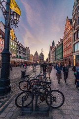 In the old town square (Vagelis Pikoulas) Tags: wroclaw europe poland travel photography street bike bicycle bicycles town old square landscape city cityscape people buildings canon 6d tokina urban 1628mm may spring 2018