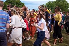 Swedes at play - DSCF3653a (normko) Tags: london hyde park seden swedish festival midsummer picnic flowers celebration summer