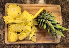 Sliced Pineapple #jcutrer (joncutrer) Tags: jcutrer royaltyfree creativecommons sweet knife food kitchen cuttingboard fruit pineapple