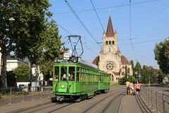 2018-08-05, Basel, Zoo Bachletten (Fototak) Tags: tram strassenbahn danteschuggi bvb tcb basel switzerland 450 702