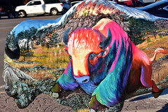 Bison as a work of art (MarkusR.) Tags: mrieder markusrieder nikon d7200 nikond7200 vacation urlaub fotoreise phototrip usa 2017 usa2017 southdakota custer city town stadt bison kunst art artwork