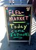 Flea NYC (battyward) Tags: nyc sign grammar bad flea chalk colorful