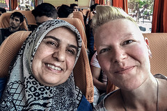 Selfies with Strangers 019: Neslihan (Melissa Maples) Tags: ısparta turkey türkiye asia 土耳其 apple iphone iphonex cameraphone spring me melissa maples selfportrait woman shorthair blonde selfieswithstrangers travel coach bus headscarf turk isparta