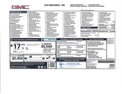 2018 GMC Yukon Denali Monroney