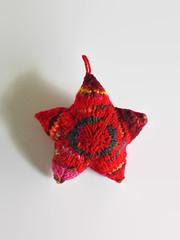 Red Wool Christmas Star (brandacrafts) Tags: christmas star knits heirloom branda