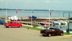 Four pickup trucks at marina! - HTT (Maenette1) Tags: pickuptrucks four greatlakesmemorialmarina menominee uppermichigan happytruckthursday flicker365 allthingsmichigan absolutemichigan projectmichigan