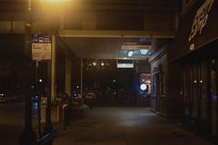 Brownline | Damen | Train Station (Jovan Jimenez) Tags: brownline damen train station sony a6500 canon 40mm f28 stm tetrachrome 400 lut alpha cinematic ef night chicago cta bus stop lowcon streetphotography