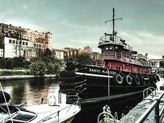 McAllister (MomoFotografi) Tags: boat industrial decay ruine oldport vieuxport montreal city river mcallister old vintage rust 12100mm mzuiko