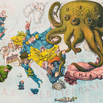 Papagallo no.15 la Piovra Russa Anno VI by Augusto Grossi (1835-1919), a cartoon depiction of Europe in 1878, using caricatures and monster kraken. Original from Library of Congress. Digitally enhanced by rawpixel. thumbnail