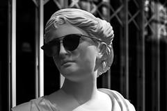 Shades and sculptures (Chris Hamilton Photography) Tags: coventgarden d7200 reflection monochrome statue scultpture shades nikon urban portrait