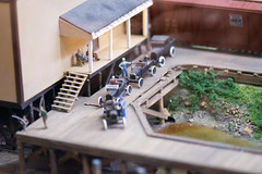 Tiny cars at the railway station (quinet) Tags: 2017 antik canada mapleridge ancien antique museum musée vancouver britishcolumbia 124