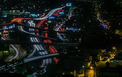 it never gets old (pbo31) Tags: sanfrancisco california city nikon d810 color night urban black august 2018 summer boury pbo31 lightstream traffic roadway motion bernalheights over view 101 280 interchange highway