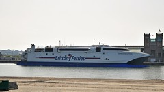 Brittany Ferries. Normandie Express. IMO: 9221358. (Drive-By Photography) Tags: brittanyferries normandieexpress fastcraft catermeran ship ferry cherbourg portsmouth