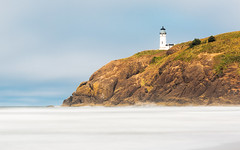Signals (John Westrock) Tags: lighthouse landscape ocean pacificnorthwest pacificocean longexposure sunny smooth northheadlighthouse canoneos5dmarkiii canonef100400mmf4556lisusm bwnd1000x