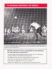 Celtic vs Benfica - 1974 - Page 11 (The Sky Strikers) Tags: celtic benfica challenge match for childrens cup park parkhead unicef official souvenir programme 20p